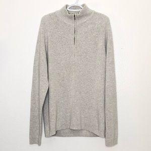Calvin Klein zipper turtleneck sweater size XL